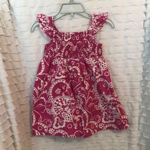 Gymboree pink/raspberry floral dress